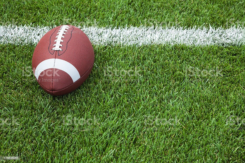 College football at goal line stock photo