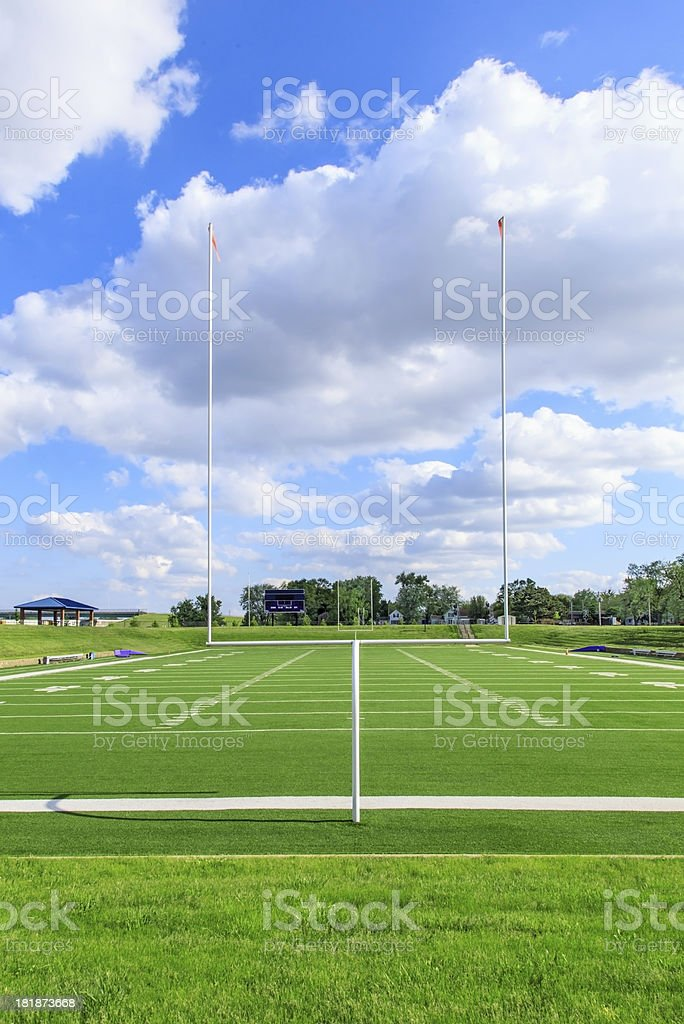 College Football Field stock photo