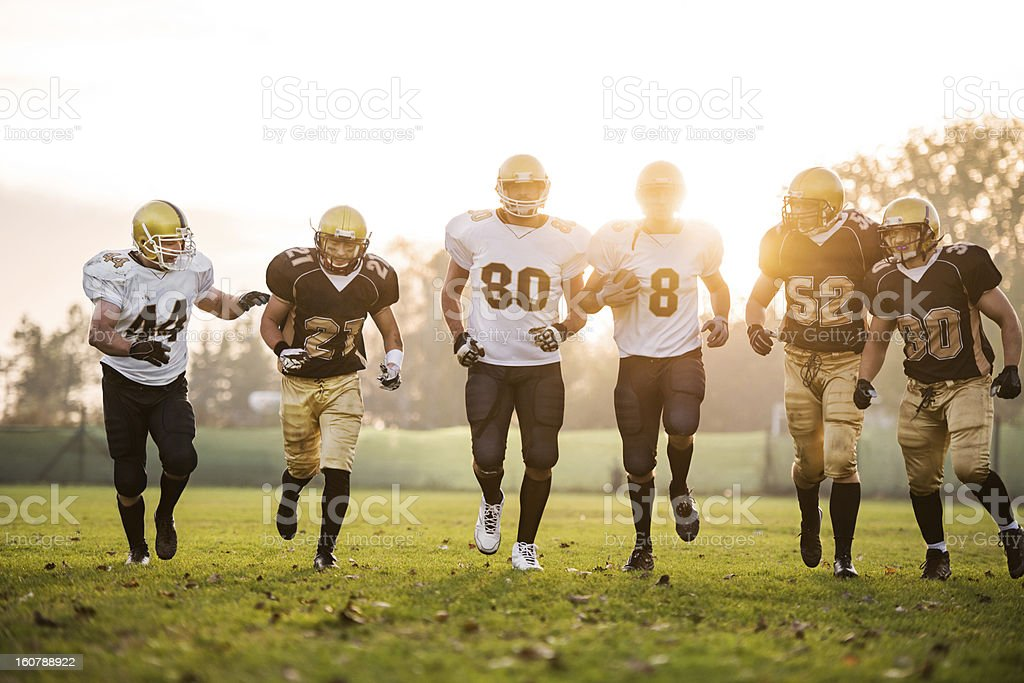 College Football players. royalty-free stock photo