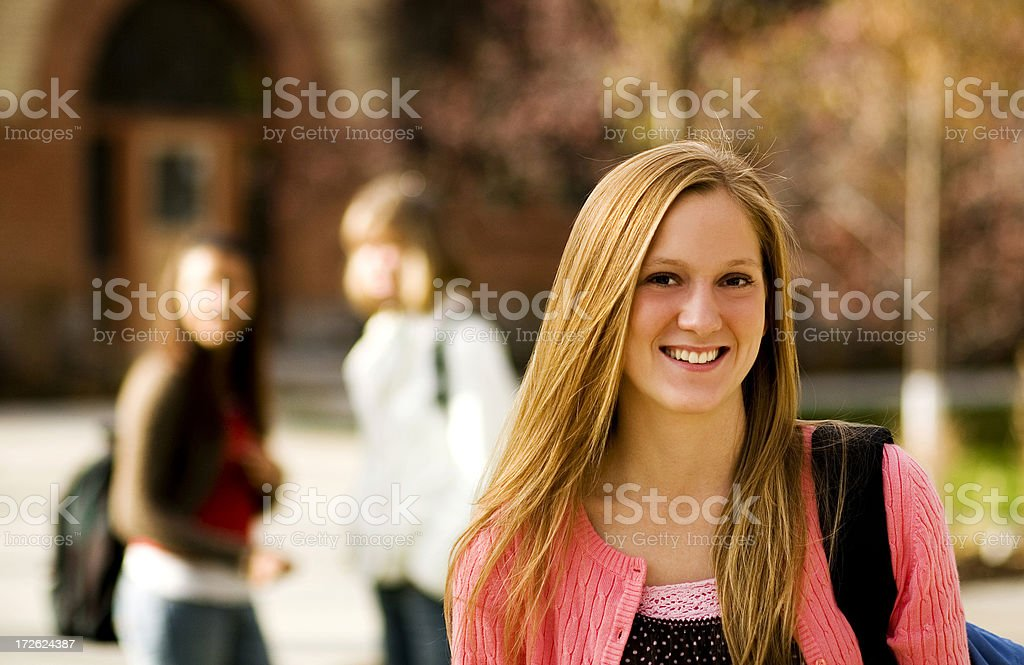 College Freshman royalty-free stock photo