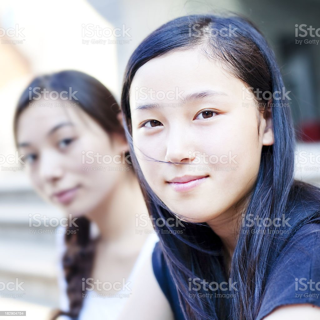 College friends royalty-free stock photo