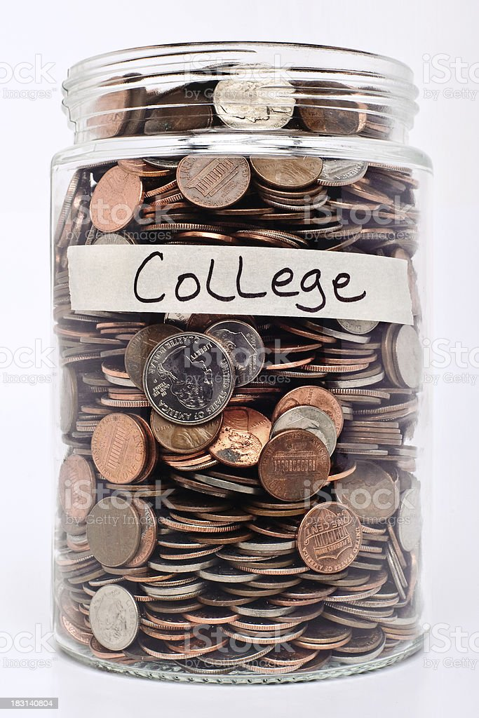 College fund savings royalty-free stock photo