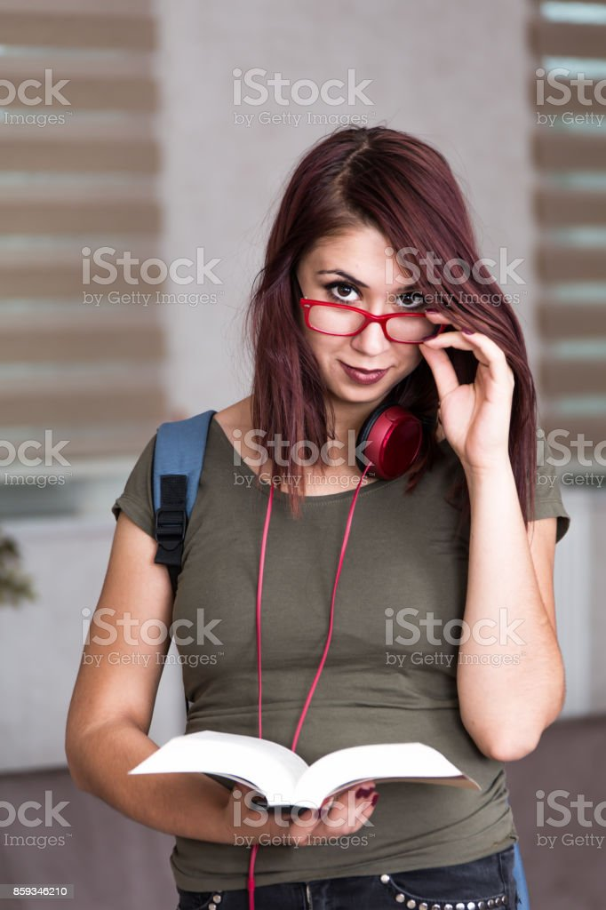 college girl stock photo
