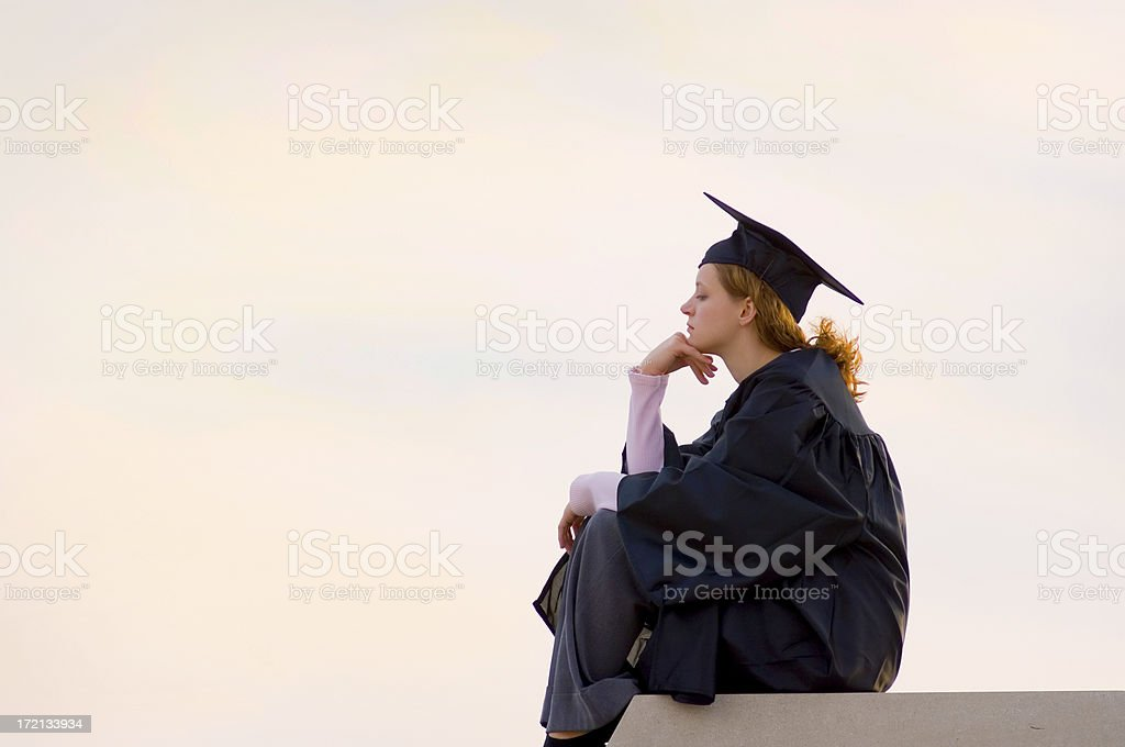 College graduate, the Thinker stock photo