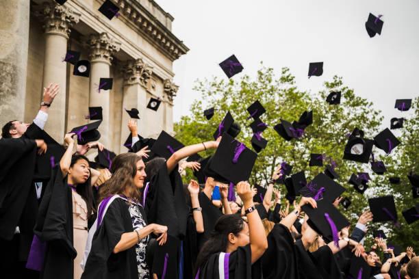 College graduation day stock photo