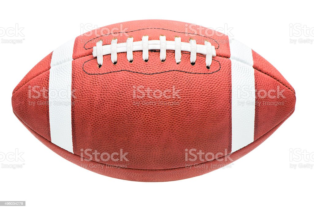 College High School Junior American Football on White stock photo