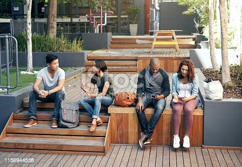 143071438 istock photo College is a great place to make new friends 1156944538