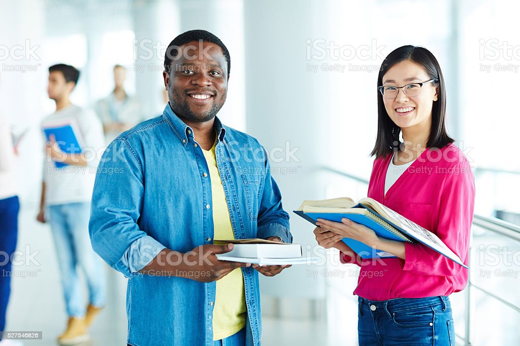 College learners stock photo