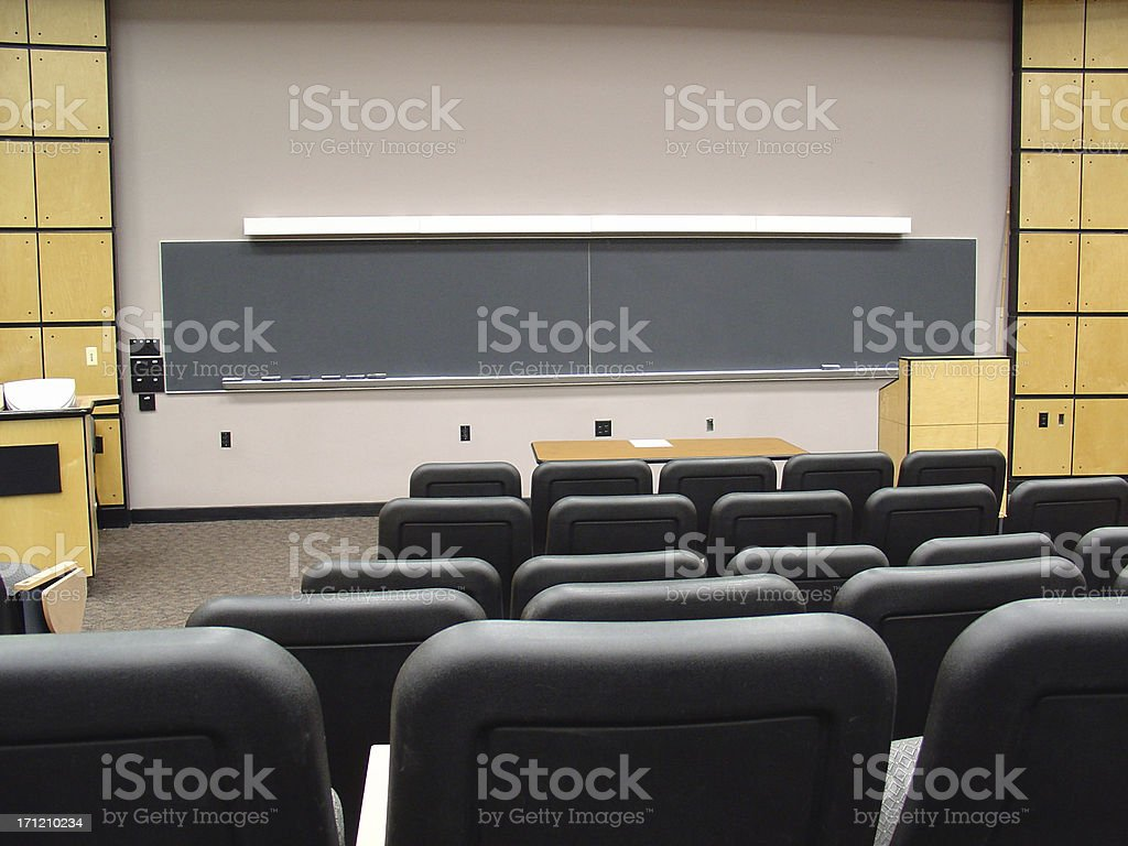 college lecture hall royalty-free stock photo