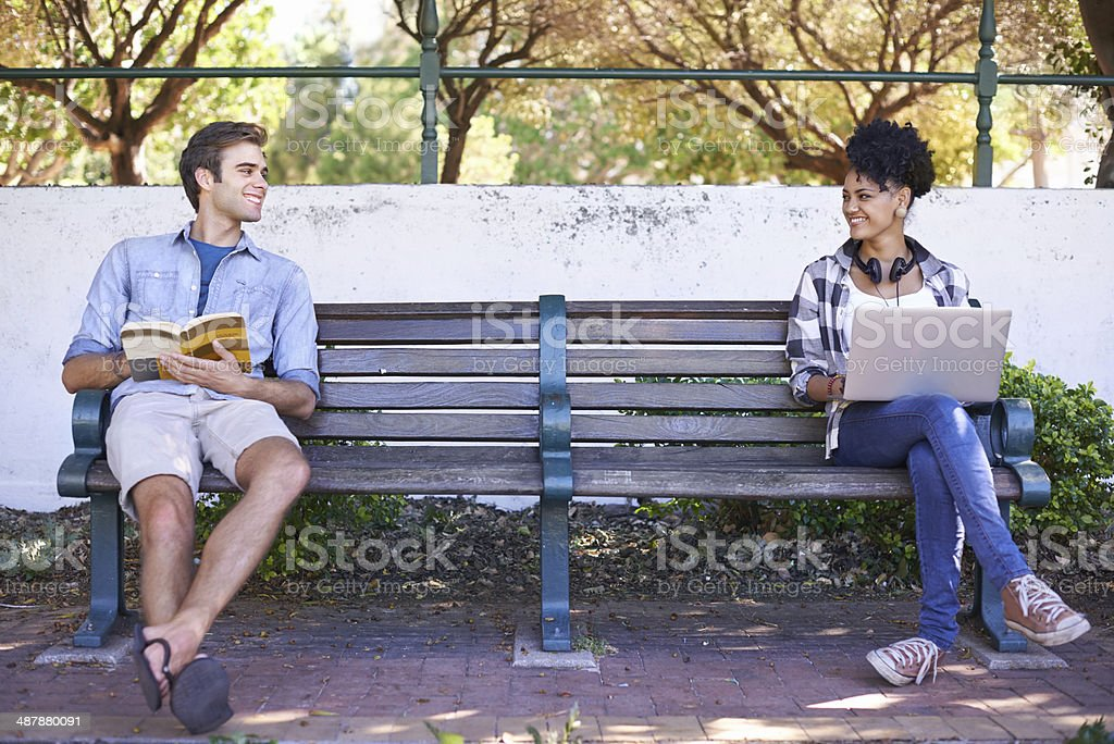 College life is great! stock photo