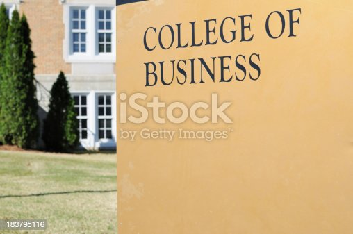 istock College of business sign 183795116