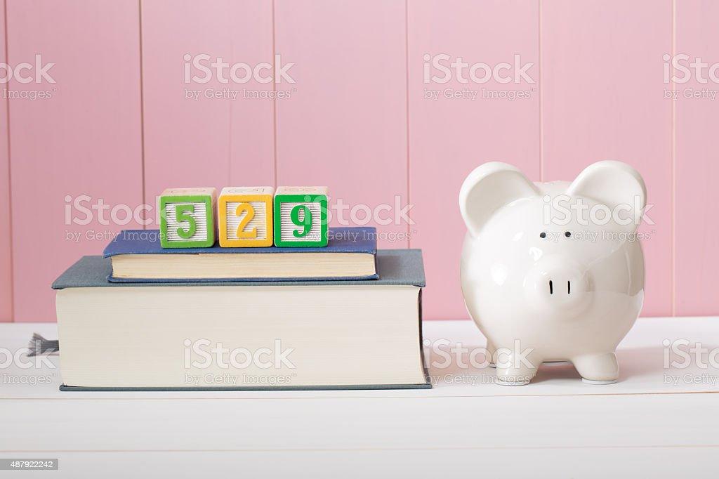 529 college savings plan concept stock photo