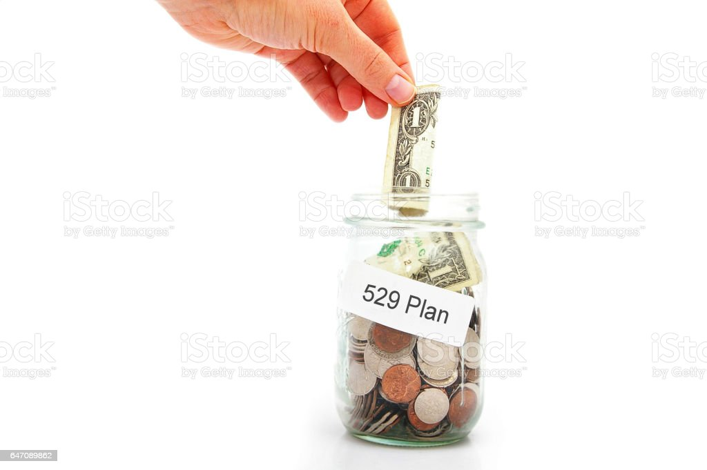 529 college savings plan stock photo