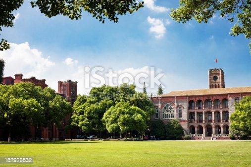School scene of Suzhou University in South China.European style buildings.