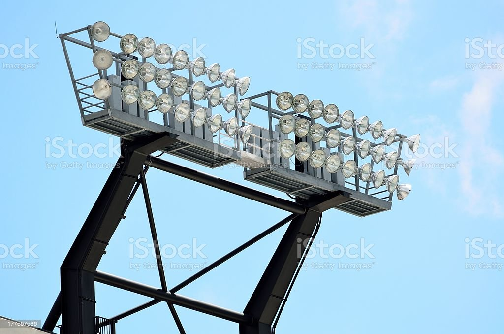 College Stadium lights royalty-free stock photo