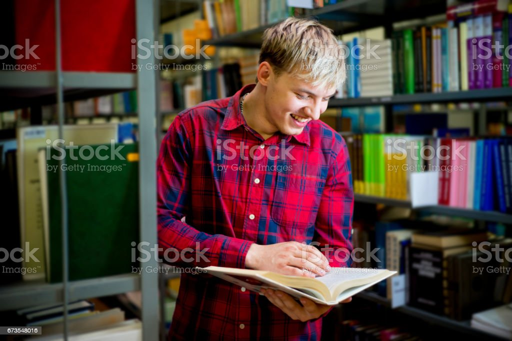 College student in library royalty-free stock photo