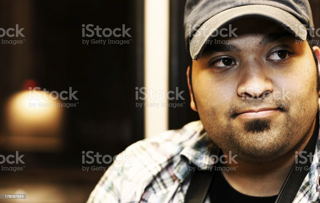 College Student on Portland MAX royalty-free stock photo