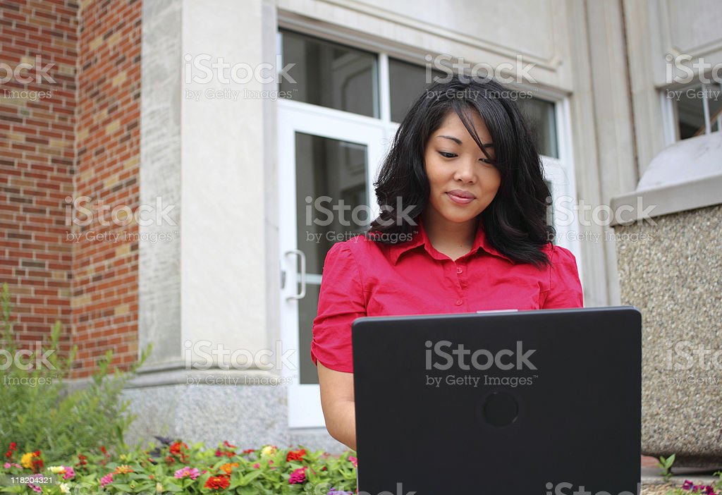 College student series royalty-free stock photo