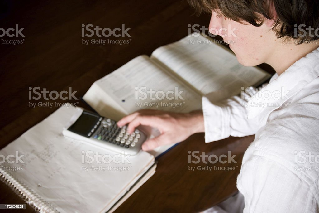 College Student: Studying royalty-free stock photo