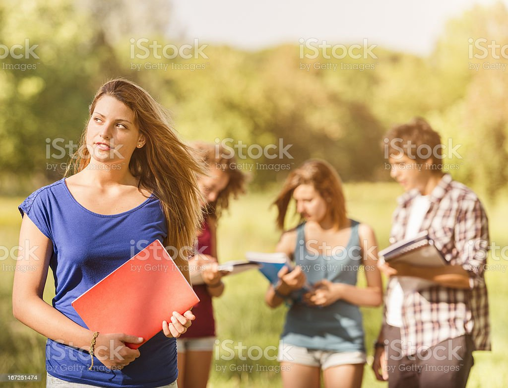 College student togetherness back to school royalty-free stock photo