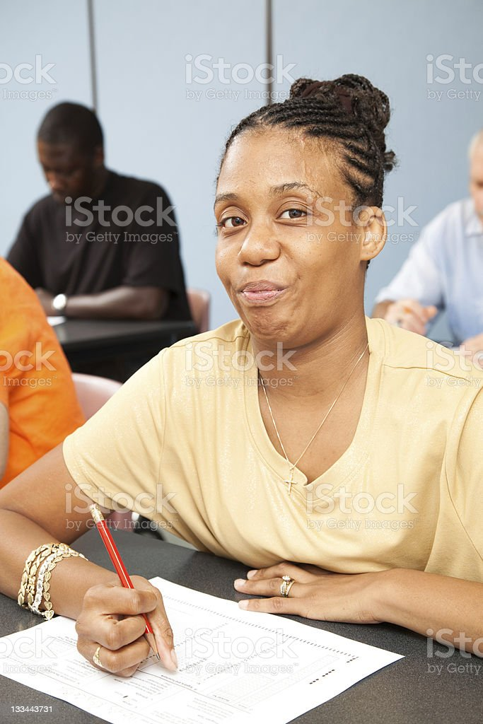 College Student with Disability stock photo