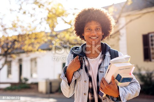 istock College student with lots of books in college campus 813019172