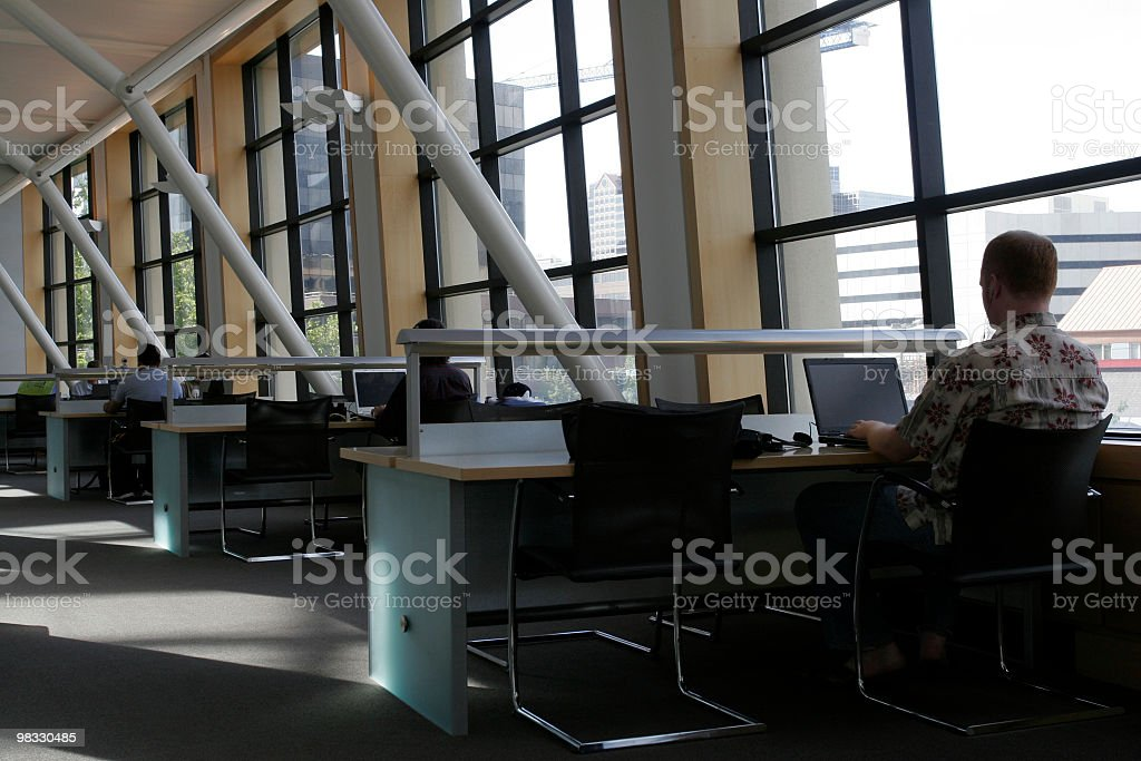 College student working on laptop royalty-free stock photo