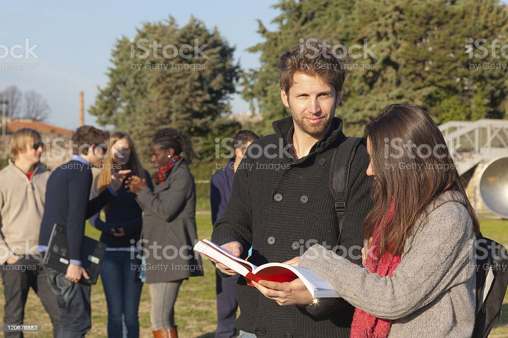 College Students at Park royalty-free stock photo