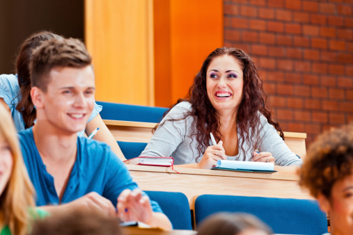 College Students At The University Stock Photo - Download Image Now