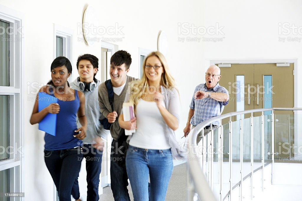 College students bunking classes royalty-free stock photo