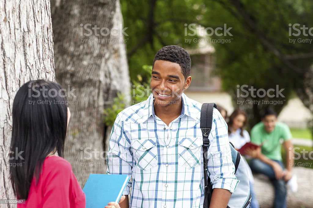 College students hanging out royalty-free stock photo