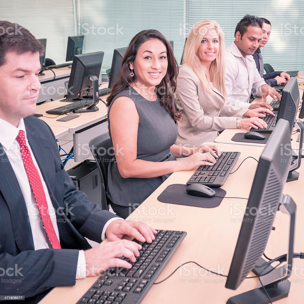 College Students In The Computer Training Class