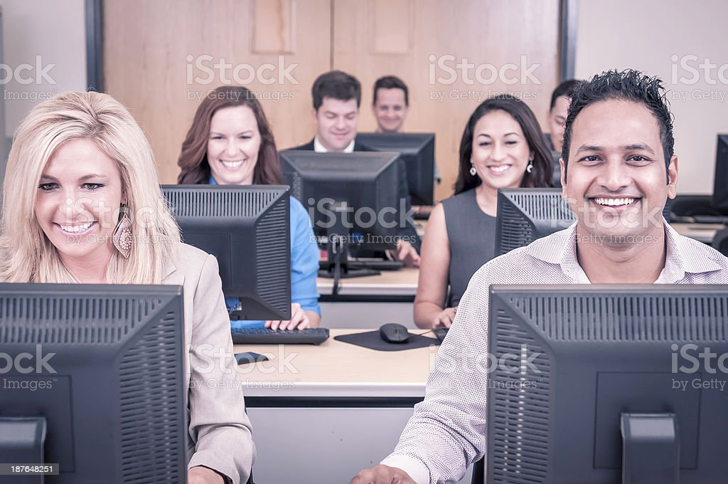 College students in the computer training class - XII royalty-free stock photo