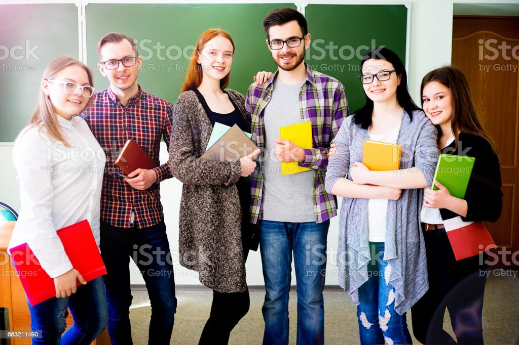 College students on a lecture royalty-free stock photo