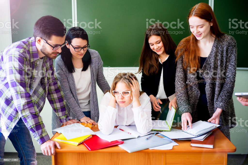 College students on a lecture 免版稅 stock photo