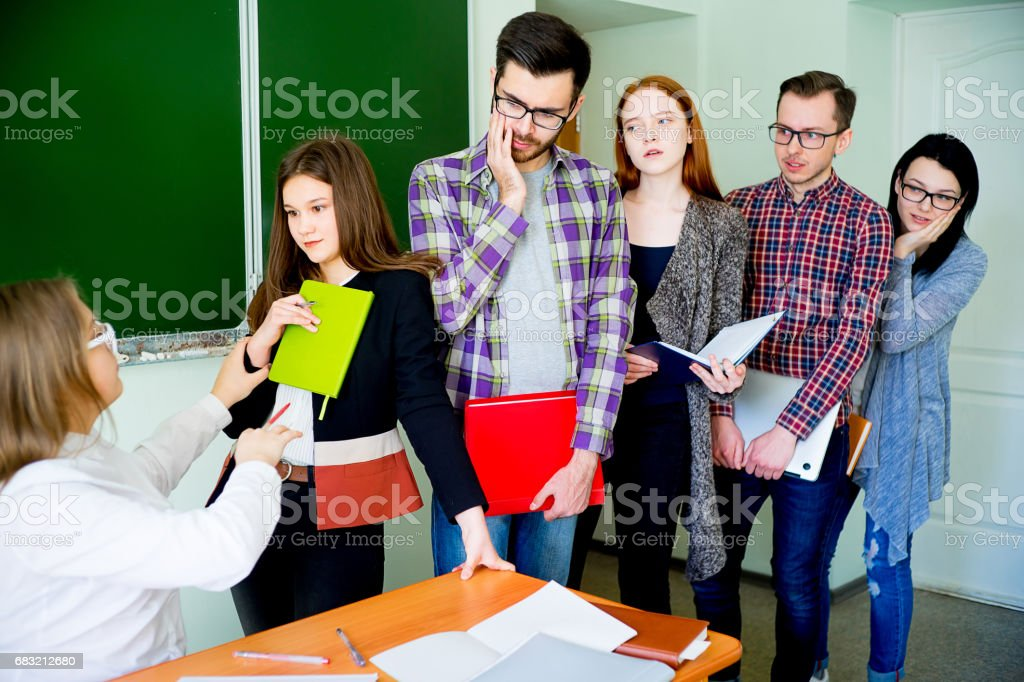 College students on a lecture foto de stock royalty-free