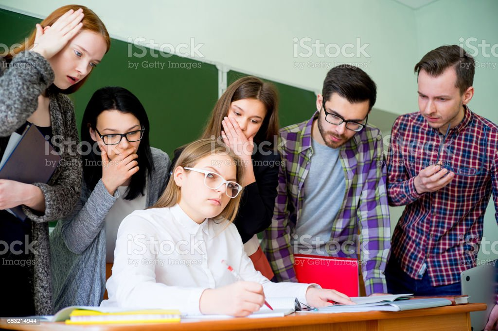 College students on a lecture royalty-free 스톡 사진