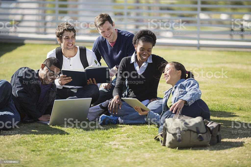 College Students Studying Together royalty-free stock photo