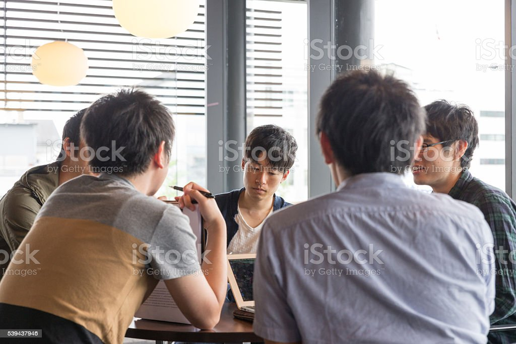 College students to discuss stock photo