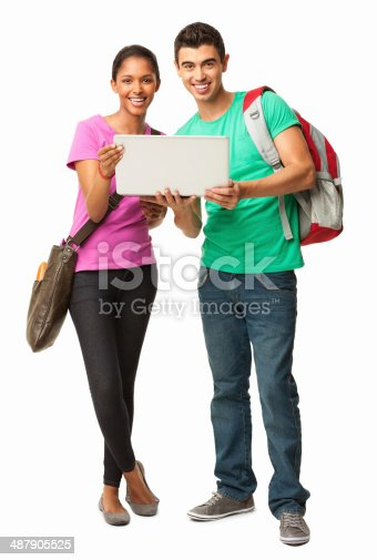 istock College Students Using Laptop - Isolated 487905525
