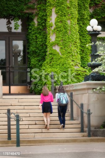 istock College Students Walking Up School Building Steps on University Campus 175745470