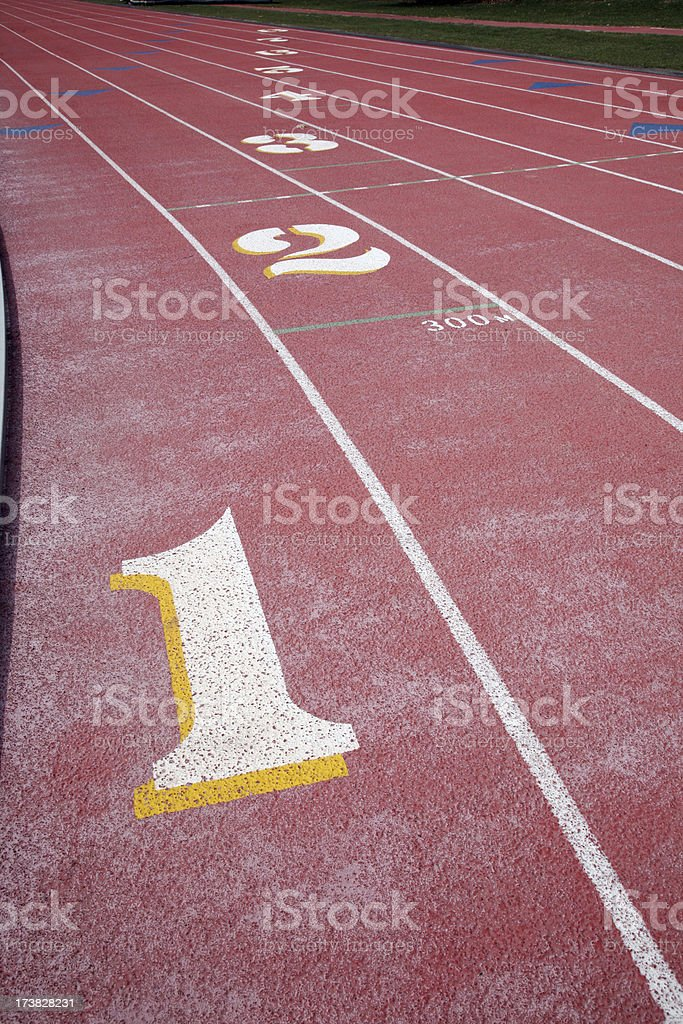 College Track royalty-free stock photo