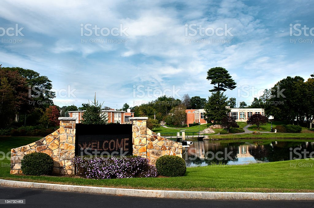 College University Security camera royalty-free stock photo