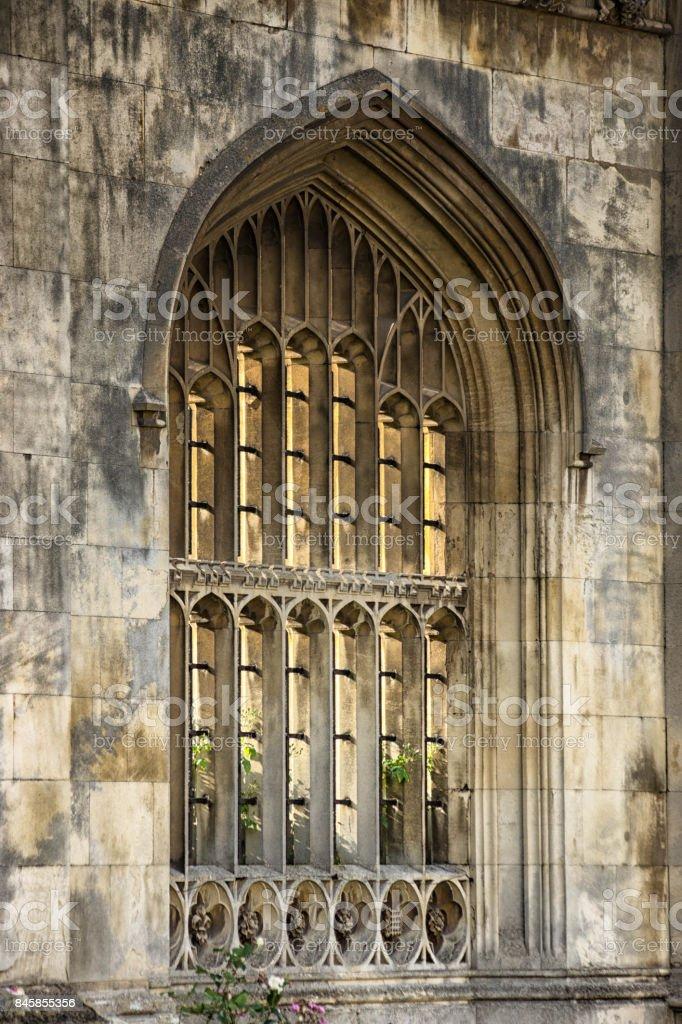 College window, Cambridge stock photo