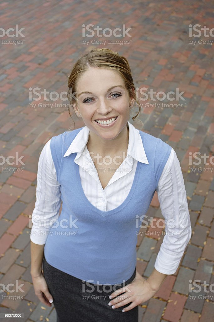 College Woman Series royalty-free stock photo