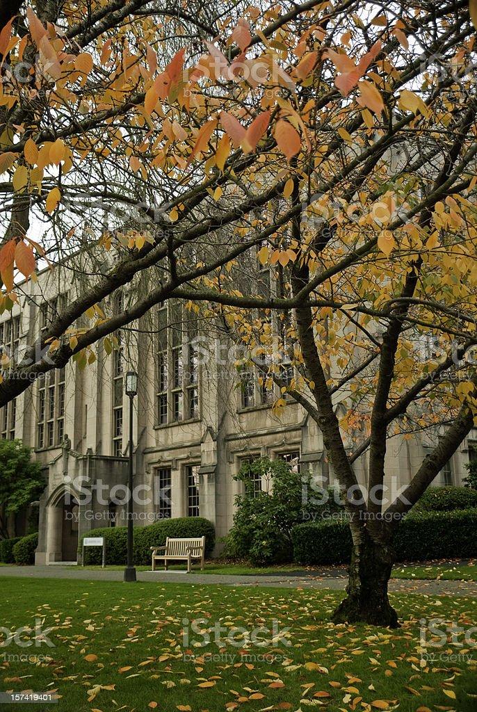 Collegiate building at University of Washington royalty-free stock photo