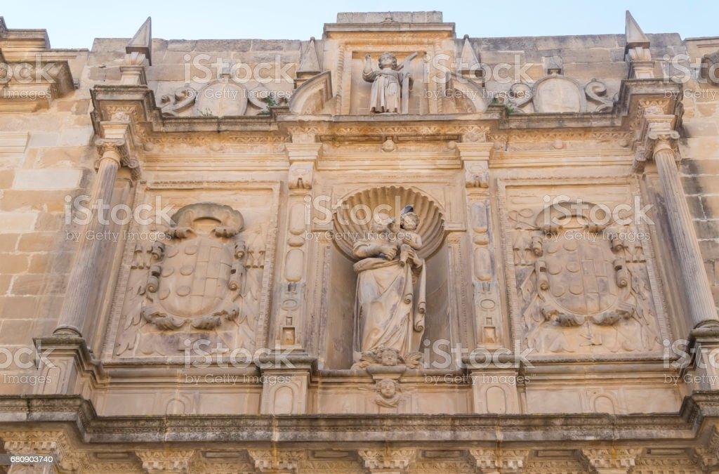 Collegiate Church of Santa Maria de los Reales Alcazares, Ubeda, Jaen Province, Andalusia, Spain royalty-free stock photo