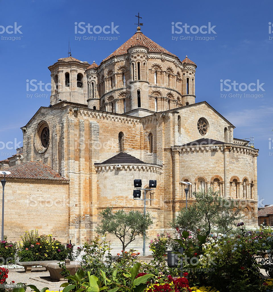 Collegiate church of Toro (Zamora,Spain) stock photo