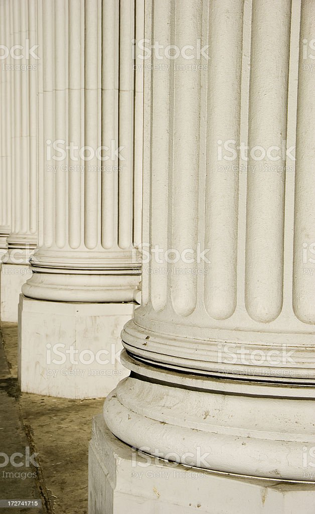 Collegiate columns royalty-free stock photo