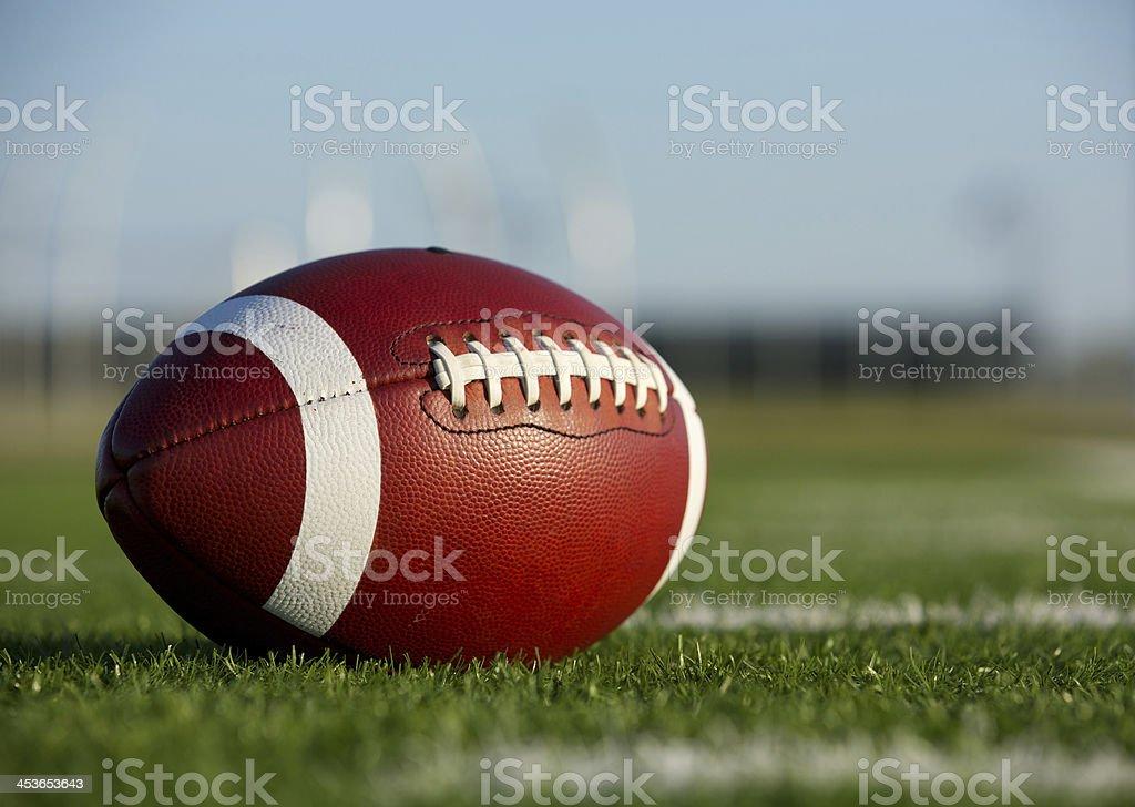Collegiate Football on the Field stock photo